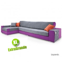 Funda de sofá chaise longue Paula XL