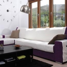 Funda de sofá chaise longue Atlas XL