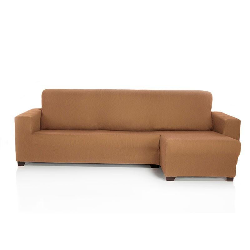 Funda de sof chaise longue el stica rustica - Fundas para sofas con chaise longue ...
